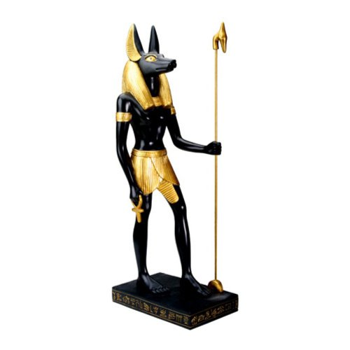 YTC Figura decorativa de Anubis egipcia, tamaño grande, coleccionable, figura escultura