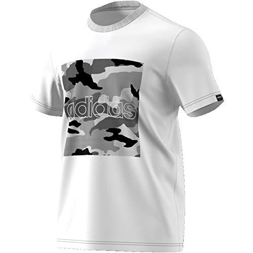 adidas Herren M CAMO Box T T-Shirt, Blanco/Negro, 4XL
