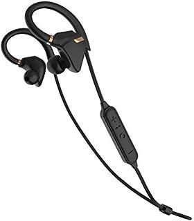 iina-style Bluetooth イヤホン 防水 IPX7 高音質 iPhone7 AAC 対応 スポーツ仕様 外れにくい Bluetooth ヘッドホン ハンズフリー通話 CVC6.0 BT Ver 4.1 ワイヤレス イヤホン (ブラック/ゴールド)