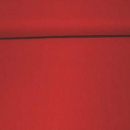 Erstklassiger Baumwollstoff, Uni, Kleider-, Dekostoff, 100{d2bd1077631bde6bca2aca9a762ef68408a4405b7367d5496d45ea129d79305a} Baumwolle, Meterware, 1fm, Breite 160cm – rot