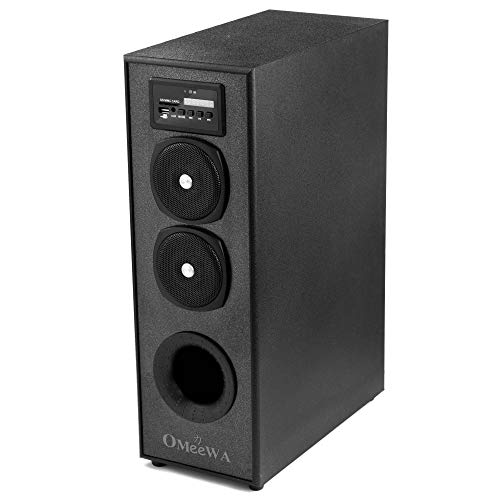 Omeewa (by Obage) MT-525X Single Multimedia Tower Speaker with Bluetooth,USB,AUX