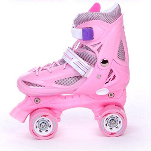 oofay Verstelbare Quad Skates gevoerde Kids Roller Laarzen Veiligheid Kinderen Skate