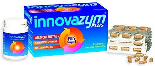 innovazym® PLUS, Premium Enzymkomplex| hochdosiert 150.400 F.I.P.-Einheiten je Tbl. | höchste Bioverfügbarkeit | Entwickelt von der Medizinischen Enzymforschungsgesellschaft| mit Omega-3 Kapseln