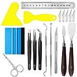 X SIM FITNESSX Juego de 13 herramientas de manualidades para deshierba, herramientas básicas de para deshierba, silueta, HTV, cameos, letras, incluye pinzas de tijera, espátula raspadora