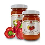 Crema di Peperoni, Ideale da Spalmare, per Aperitivi E Come Condimento, 135 Grammi (Confezione da 2 Pezzi)