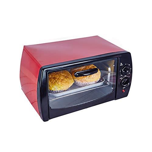 SLFPOASM Oven Hogar Hornear Peque?A AutomáTica Multifuncional Horno EléCtrico,Tostador, Horno De Pizza & Snack,Horno Tostador De Calentamiento RáPido De,Ajuste De Temperatur Red