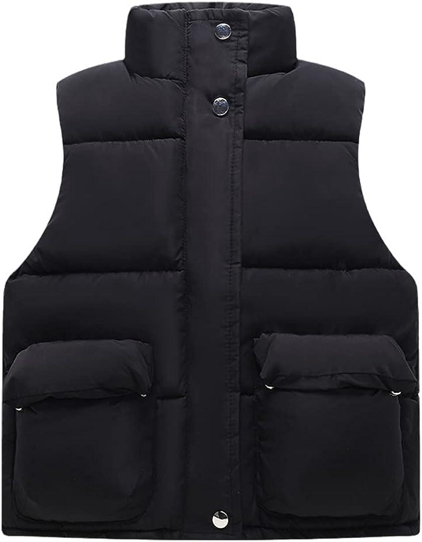 FLZS Baby Boys Girls Warm Outerwear Waistcoat Children Jacket Thicken Girl Waistcoat