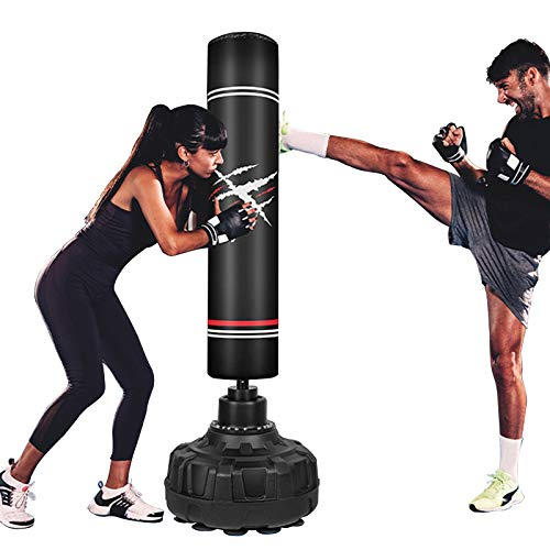 HOMFY Freestanding Punching Bag 69'' Heavy Boxing Bag with Suction Cup Base - Stand Kickboxing Bags Kick Punch Bag for Adult Youth Training Stress Relief & Fitness
