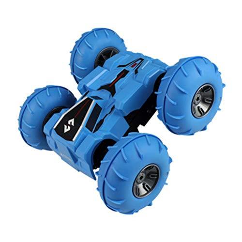 Fernbedienung stunt auto, creamon doppelseitige stunt auto 2,4g aufblasbare rad fernbedienung auto kinderspielzeug blau