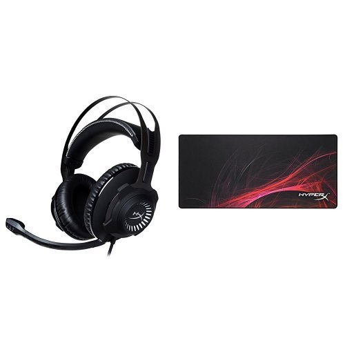 HyperX Cloud Revolver Gaming Headset GM and HyperX FURY S XL Mousepad Speed Edition Gaming Bundle