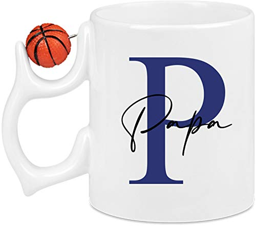 EZYshirt® Personalisierte Namenstasse mit schönen Buchstaben für persönliche Geschenke für die ganze Familie Basketball Tasse Kaffeetasse Kaffeebecher