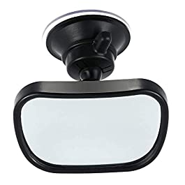 Gasea Baby Car Mirror Rear Facing with Suction Cup, Universal 360° Adjustable Baby Safety Car Rear View Back Seat Mirror