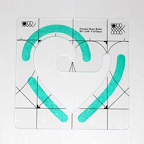 Heart-Shaped Quilting Template DIY Sewing Tools Sewing Machine Ruler Acrylic Quilting Ruler Template Easy Free to Sew Heart-Shaped Patterns