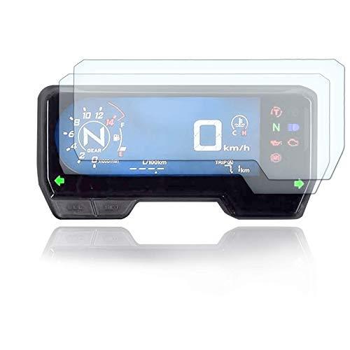 [2 Stück] Displayschutzfolie Tacho Schutzfolie geeignet für Honda CB650R / CBR650R / CBR500R / CB500F 2019+ 1x Ultra Clear / 1x Anti Glare