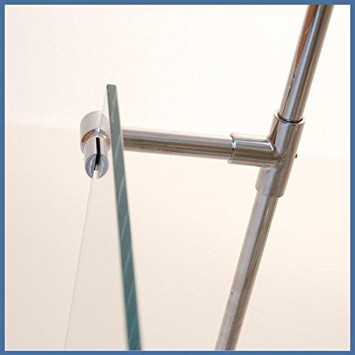 Stabilisierungsstange mit Seitenarm, Stabilisationsstange Eck-Dusche (100cm, Chrom)