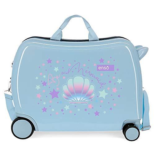 Enso Be a Mermaid Maleta Infantil Azul 50x38x20 cms Rígida ABS Cierre combinación 34L 2,1Kgs 4 Ruedas Equipaje de Mano