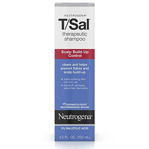 Neutrogena T/Sal Therapeutic Shampoo, Scalp Build-Up Control 4.5 oz (Pack of 8)