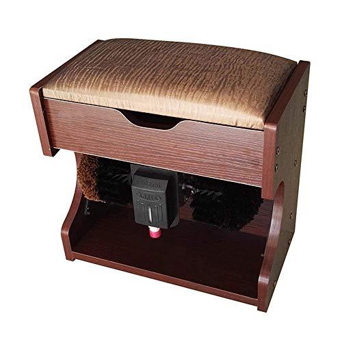 Kaikai Automatischer Schuh Polierer 60W, Automatische Induktionsbürste, Schuhbank, elektrische Schuhbürste, Haushalt, Staubentfernung, Ölrückbau (Farbe: rote Eiche) (Color : Walnut)