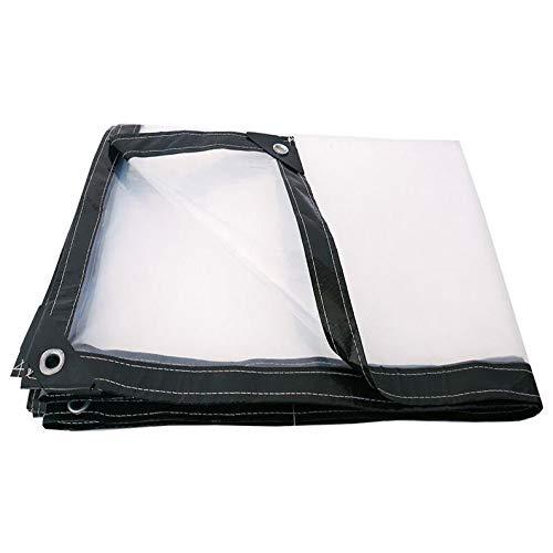 AOHMG Clear Tarpaulin Waterproof, Waterproof Clear Eyelets Balcony Plant Awning Rainproof Cloth Rainproof Shed Cloth,9x15ft/3x5m