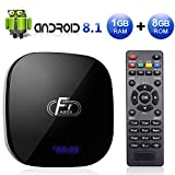 Android TV Box, A95X F1 Android 8.1 TV BOX 1GB RAM/8GB ROM Amlogic