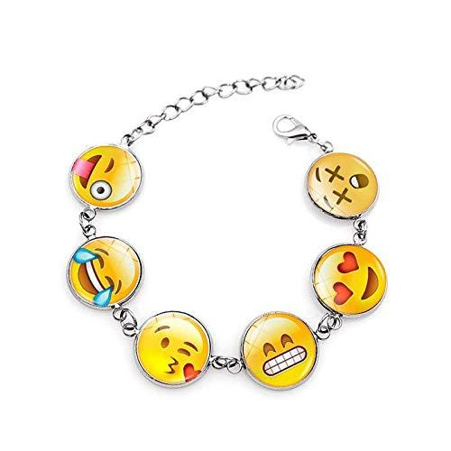 Bosi General Merchandise Pulseras de Emoji, Gemas del Tiempo, Pulseras de Cristal, Regalos creativos, coleccionables