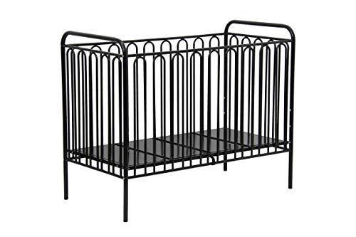 Kinderbett Gitterbett Kinderbett aus Metall Polini Vintage 150 schwarz