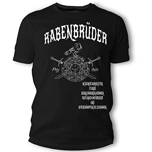Beschdstoff Herren Tshirt - Rabenbrüder - Wikinger Odin Walhalla Vikings Motiv (XL)
