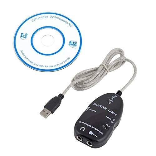 Toolso Audiokabel für PC/MAC, Gitarren auf USB, 3 Stück