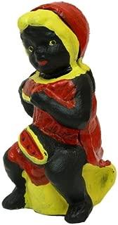 black watermelon statue