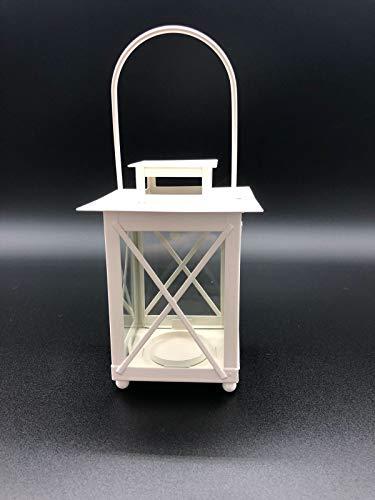 Unbekannt Laterne Windlicht Teelichthalter - 3er Set für Haus Garten und Terasse 3 Farben (weiß)