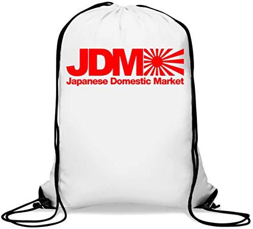 JDM Japanese Domestic Market Rising Sun Flag Graph Mochila con cordón Informal Gym Sack