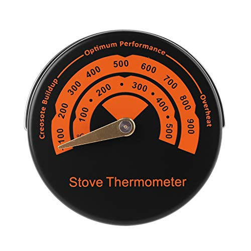 GUMEI Magnetic Stove Thermometer Fireplace Fan Temperature Monitor Fire Burn Indicator
