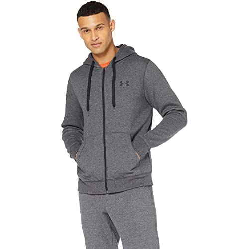 Under Armour Rival Fitted Full Zip, Breathable Men's Hooded Jacket, Comfortable Zip Hoodie with Tight Fit Men