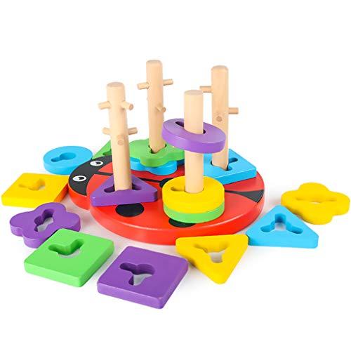 kids toys Jeux éducatifs pour la Petite enfance Jouets éducatifs pour garçons et Filles Puzzle Jouets 2 Ans bébé en Bois Blocs de Construction Jouets Forme Correspondant Jouets cognitifs Graphiques
