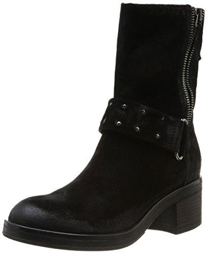 MANAS Damen Fiona Biker Boots, Schwarz (Nero), 35 EU (2 UK)
