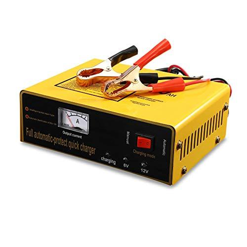 6V / 12V Cargador de batería de automóvil, universal AC110-250V a CC 6 / 12V 80AH 140W Cargador de batería de automóvil inteligente automático Cargador automático de protección automática completo
