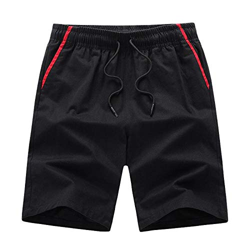 Pantalones Cortos Deportivos Newest Summer Casual Shorts Men Fashion Style Man Shorts Bermuda Beach Shorts Breathable Beach Boardshorts Men Sweatpants M Black
