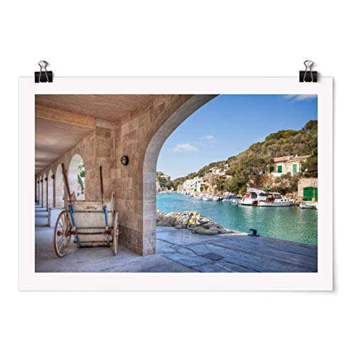 Bilderwelten Poster Motiv - Cala Figuera Mallorca - Selbstklebend seidenmatt 50 x 75cm
