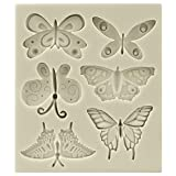 Funshowcase Butterflies Silicone Candy Mold, Mini, for Cake Decoration, Cupcake Decorate, ...