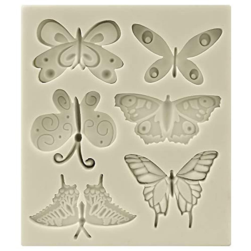 Funshowcase Butterflies Silicone Candy Mold, Mini, for Cake Decoration, Cupcake Decorate, Polymer Clay, Crafting, Resin Epoxy, Jewelry Making 11.3x9.3x1cm b667403694