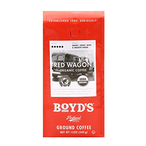 Boyd's Organic Red Wagon Coffee - Ground Dark Roast - 12-Oz Bag (Best Restaurants Near Pike Place Market)