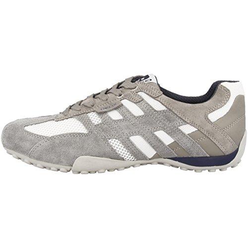 Geox Herren Uomo Snake K Sneaker, Grau (Ice/whitec0463), 42 EU