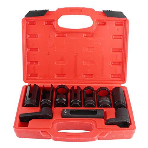 Juego de llaves de sensor de oxígeno, herramienta de eliminación de sensor de oxígeno, sensor de oxígeno estable, trinquete de compensación, sensor de oxígeno, enchufe portátil para coche