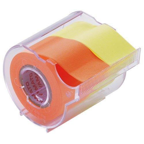 ヤマト 付箋 メモック ロールテープ カッター付き 25mm×10m NORK-25CH-6C