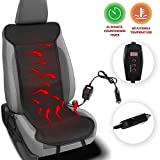 Zento Deals Heated Leather Car Seat Cushion Cover Excellent Quality Adjustable Temperature Seat Cushion, Back Pain Reliever, Perfect for Cold Weather, Winter Driving