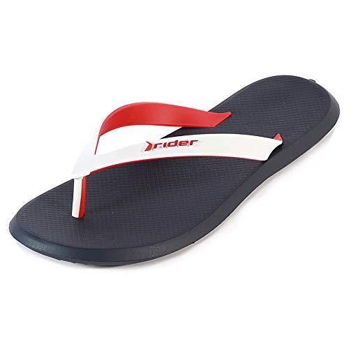 Rider Men's R1 Plastic Slip On Flip Flop White/Navy-Navy-11 Size 11