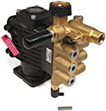 The ROP Shop 3/4' Shaft, Horizontal Triplex Pump Replacement for Pressure Washer with 3600 PSI and 2.5 GPM, Includes Keyway