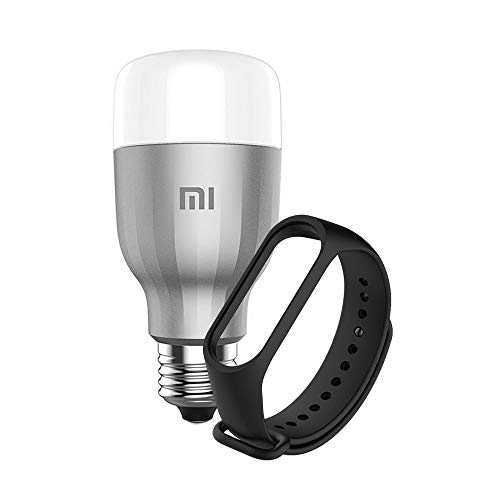 Xiaomi Mi Led Smart Bulb White And Color con Mi Smart Band 3/4 Strap, Mediano, Multicolor