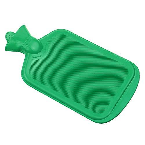 DECDEAL Bolsa de borracha para água quente de inverno Aquecedor de mão para garrafa de água quente para terapia de calor de compressão a quente 500ml