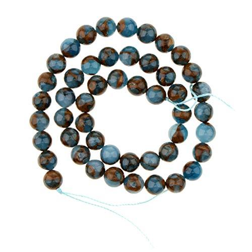 Baoblaze Perles Rondes en Vrac Pierre Naturelle Fabrication de Bijoux Bracelets/Colliers Création Cadeau Multicolore - 8 mm